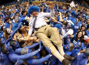 Dick Vitale at UNC vs. Duke