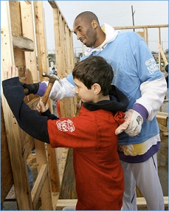 Kobe Bryant at NBA Day of Service